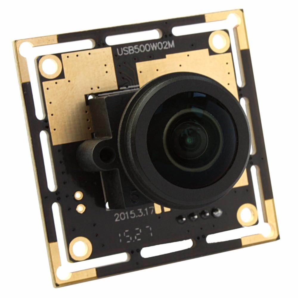 2592X1944 5.0megapixel fisheye USB Camera CMOS OV5640 1.56mm 180 wide angle USB webcam for mac linux windows