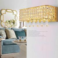 Modern Rectangular Crystal Wall Lamp Luminaire 18W G4 Led Drop Crystal Sconce Wall Light Gold Silver