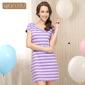 Qianxiu 2016 New Hot Sale Gecelik Sleepwear 100%Cotton Nightskirt Girl Summer Sleeepshirts Nightgown Women