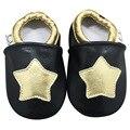 Новый Бренд Натуральной Кожи Детская Обувь пятиконечная Звезда Овчины Детские Мокасины Мягкой Подошвой Новорожденных в Помещении Первые Ходунки