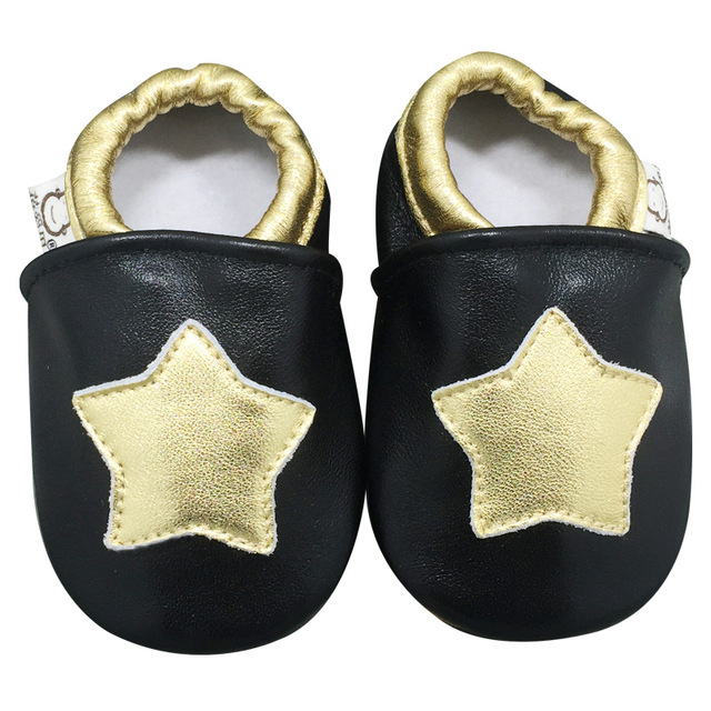 New Brand Genuine Leather Baby Shoes Five-pointed Star Sheepskin Infant Moccasins Soft Sole Newborn Indoor First Walkers