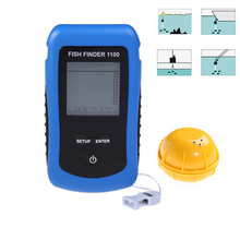 Smart Portable Fish Finder with 120ft Wireless Sonar Sensor echo sounder Fishfinder for Lake Sea Fishing Battery Replace