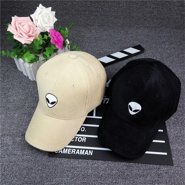 53c66581094ad8 Alien Baseball Cap For Men Women Snapback Hat Corduroy Outdoor Sunhats Hip  Hop Cap Gorra Bone Hat Adjustable