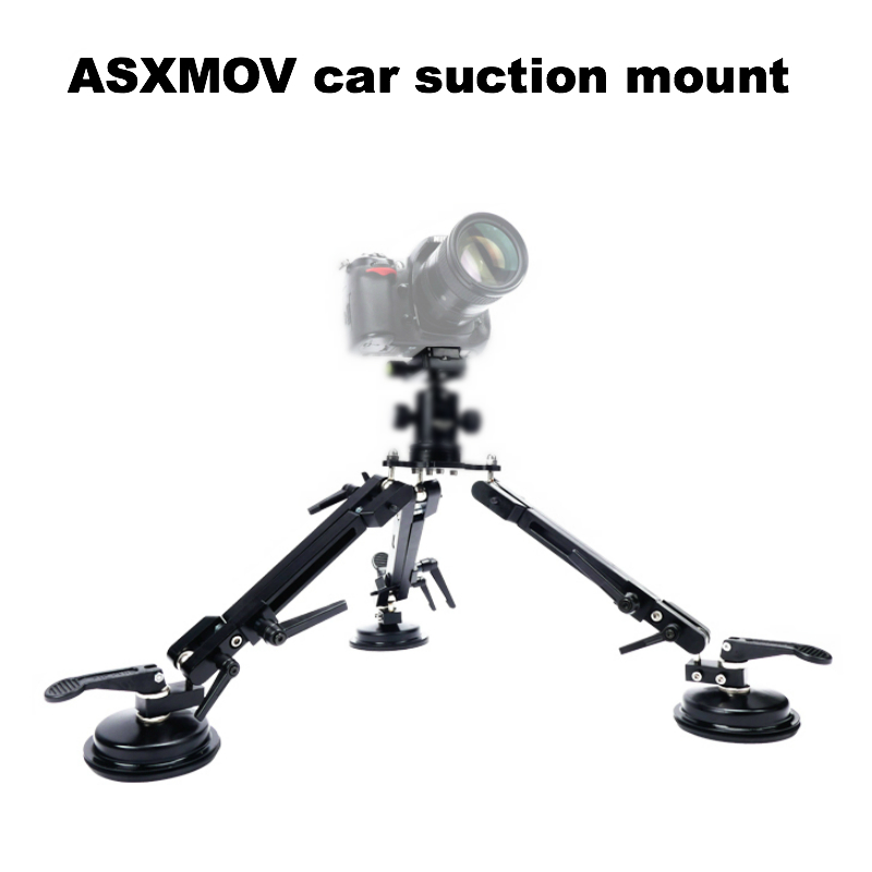 ASXMOV XP2 Video Camera Car Sucker Mount Car filming stabilizer Car suction mount dslr tripod cup Holder ball head 50cm timex timex t2m874