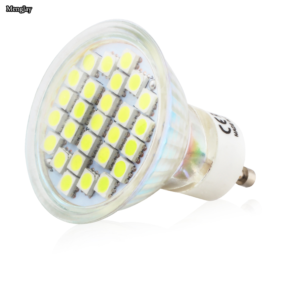 20X GU10 3.5W 27pcs 5050 SMD Led Spotlights Lamp AC220V 240V Warm White / Cool White Led Bulbs Light for home Lampada lamp - 4