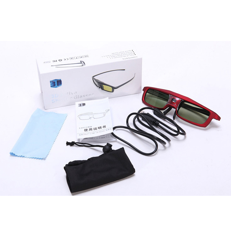 1pc <font><b>Shutter</b></font> <font><b>Active</b></font> 3D <font><b>glasses</b></font> for all DLP Projector 96~144Hz for Xgimi Z4X/H1 <font><b>JMGO</b></font> G1/GS1/P1 With retail box