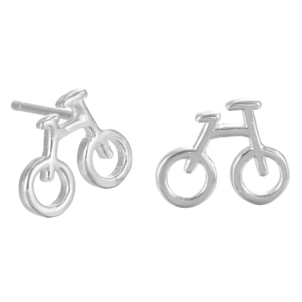 QIAMNI 925 Sterling Silver Biciklističke Stud naušnice Naušnice za - Modni nakit - Foto 2
