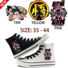 Dragon Ball Goku Print Cartoon High Top Breathable Canvas Uppers Sneakers College Customized Fashion  Shoes