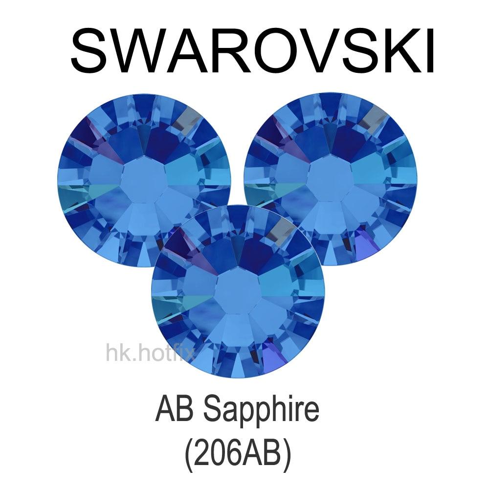 ss30 GENUINE Swarovski Elements AB Sapphire ( 206 AB ) 36 pieces ( NO  Hotfix Rhinestone ) Nail Art Craft Beads 06ce534ddda4