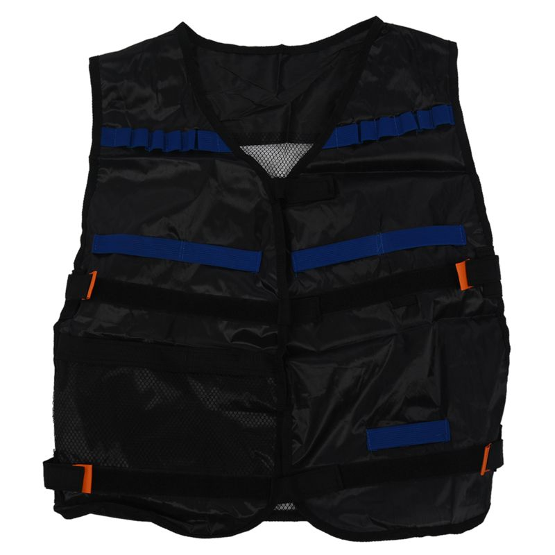 Top Tactical Vest For 12 Darts And 4 Ammo Clips In Nerf N Strike Games Black