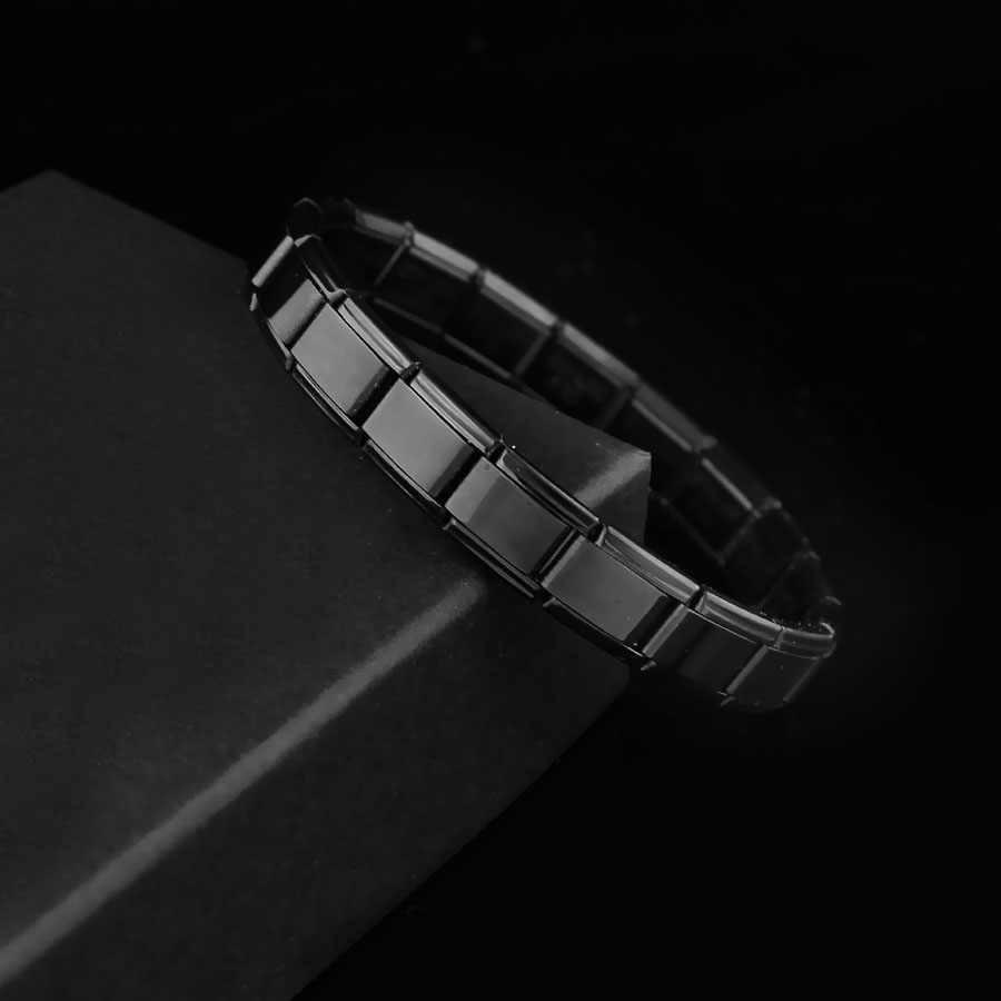 Bracciali Per Le Donne Degli Uomini 2019 Nuovo Gioelleria raffinata e alla moda 9mm di Larghezza Elastico Braccialetti con ciondoli Braccialetti di Modo D'argento Bracciale In Acciaio Inox