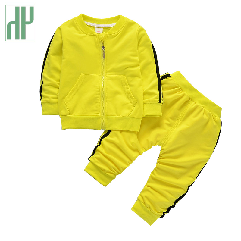HH Boy Clothing Girls Tracksuits set Kids Sport Suit Casual Cardigan Coats/Sweatshirts+Pants 2PCS children clothing hoodies