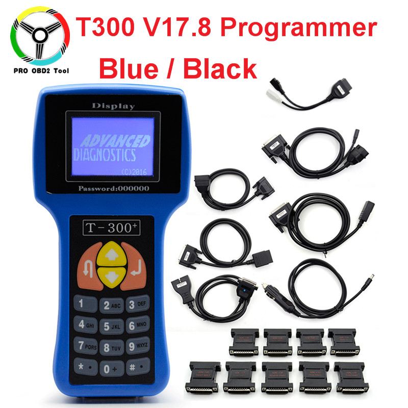 Lastest V17.8 T300 Key Programmer T-300 Auto Transponder Key Decoder T-CODE T 300 English/Spanish Support Multi-Cars Key Maker