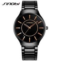 SINOBI Classic Causal Men S Wrist Watches Stainless Steel Watchband Top Luxury Brand Males Geneva Quartz