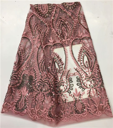 African new design gauze high quality lace fabric, beautiful embroidered fabric with party fashion sequinsAfrican new design gauze high quality lace fabric, beautiful embroidered fabric with party fashion sequins