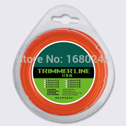 Mowing line rope nylon  line of Square&round 3.0mmX 90m Trimmer Line Spool Whipper Snipper Cord  Grass trimmer head Nylon line mini garden nylon grass trimmer line light purple 15m