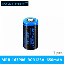 1PC best IMALENT 16340 650 mah RCR123A Li-ion 3.7v MRB-163P06 high performance rechargeable battery for LED flashlights