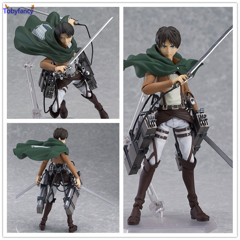 Tobyfancy Attack on Titan Eren Jaeger Figma Collection Model PVC Action Figure Collectible Toys For Boy