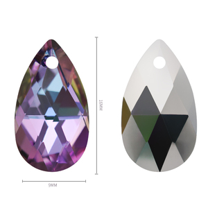 Image 3 - K9 Glass One Hole Pendant Rhinestones Clear Water Drop Stones Teardrop Loose Strass DIY Jewelry Making Custom Mothers Day Gift