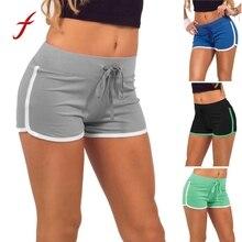 Женские спортивные шорты для тренировок, фитнеса, женские спортивные шорты для бега, хлопковые спортивные шорты с высокой талией, Feminino