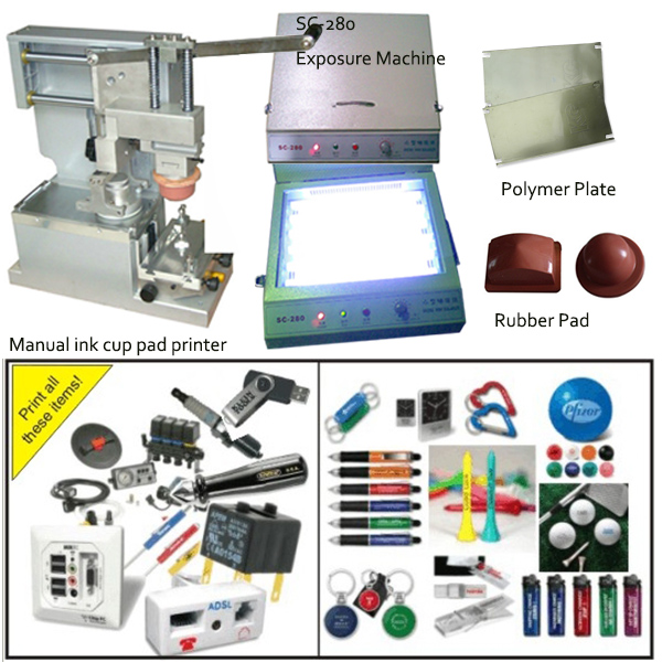usb pad printing machine with close ink cup and min exposure unit free shipping xc3020 50pc68i new original and goods in stock