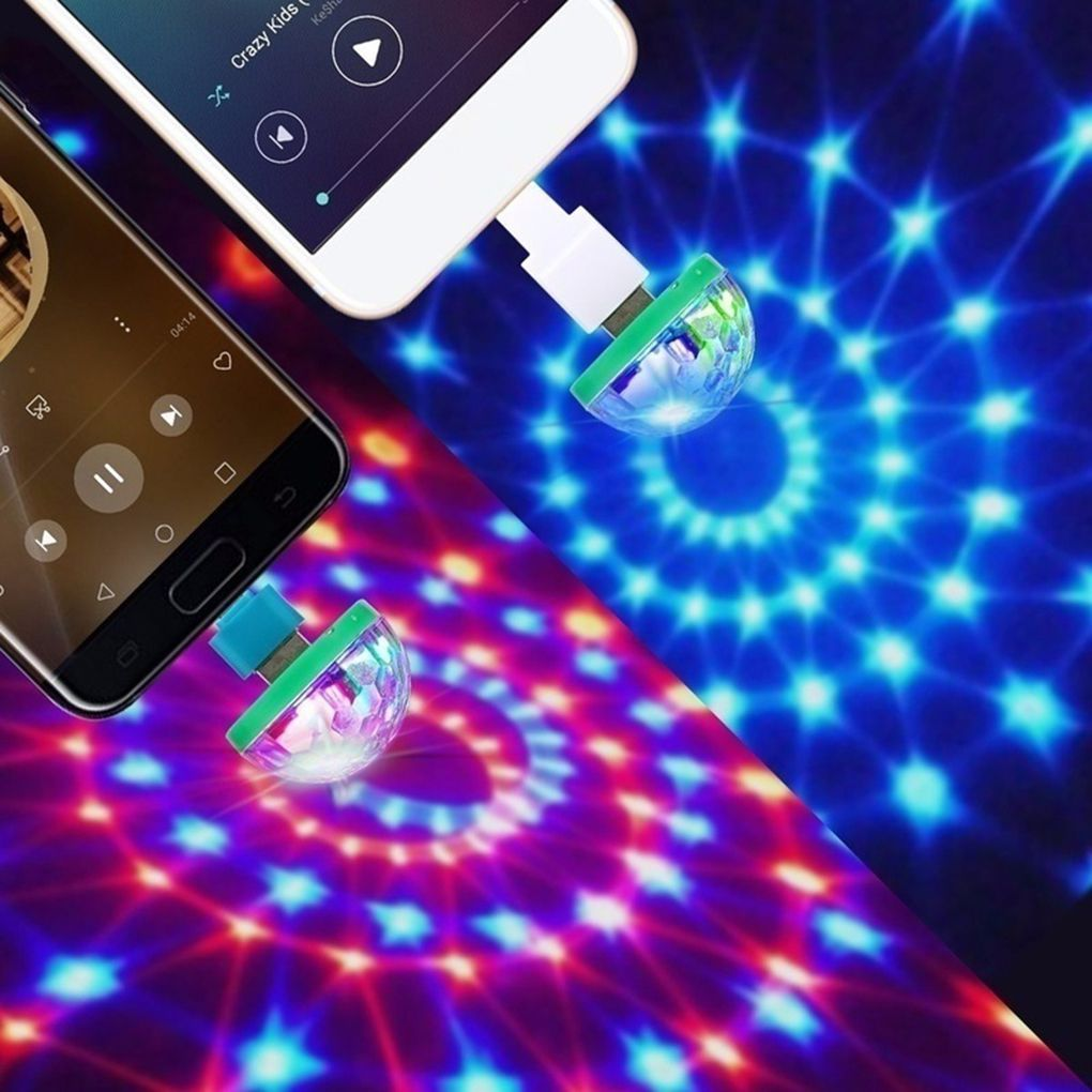 1pcs USB led Party Lights Portable Crystal Magic Ball Home Party Karaoke Decorations Colorful Stage LED Disco Light For Home