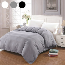 2019 Duvet Cover White Black Gray Comforter/Quilt/Blanket case Twin Full Queen King double single Bedding 220x240 200x200 150(China)