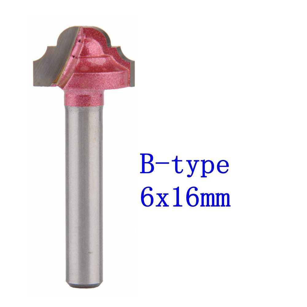 1 قطعة B-6 * 16 مللي متر (عرقوب * شفرة العرض) 3D الدانتيل النجارة CNC آلة الحفر طحن سكين ، قاطع خشب راوتر بت السكاكين