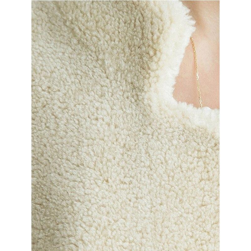 Élégant Manteau Laine Fourrure De Veste Zt699 Fit Slim Femmes Hiver Véritable Long Vêtements Beige Automne Mouton 2018 Coréen Hq7SwHnr