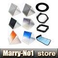 Горячая Продажа 10 в 1 градиент Фильтр набор x3 й зеркало + 58 мм переходное кольцо + держатель фильтра + сумка + Бленда и Держатель для Cokin P
