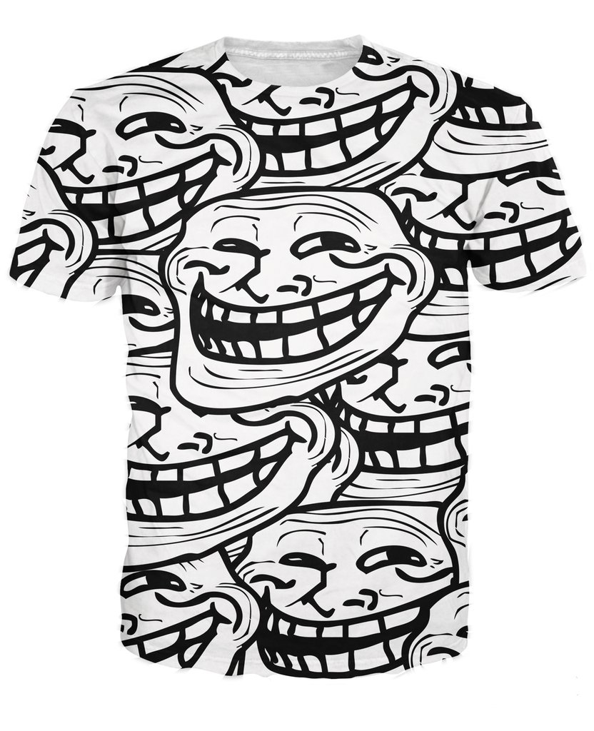 Summer style women troll face t shirt vibrant tees internet meme and summer style women troll face t shirt vibrant tees internet meme and rage comic character smiling face 3d t shirt tops in t shirts from womens clothing voltagebd Image collections