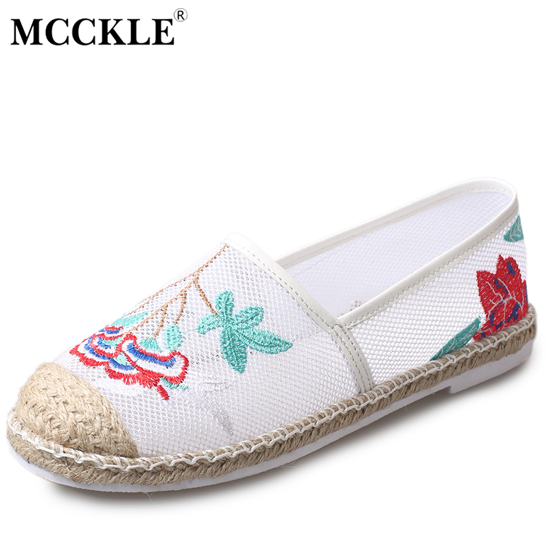 MCCKLE 2017 Women Shoes Woman Fashion Loafers Fisherman Flat Black Flower Platform Casual Comfortable Ladies Slip-on Style New mcckle 2017 fashion woman shoes flat women platform round toe lace up ladies office black casual comfortable spring