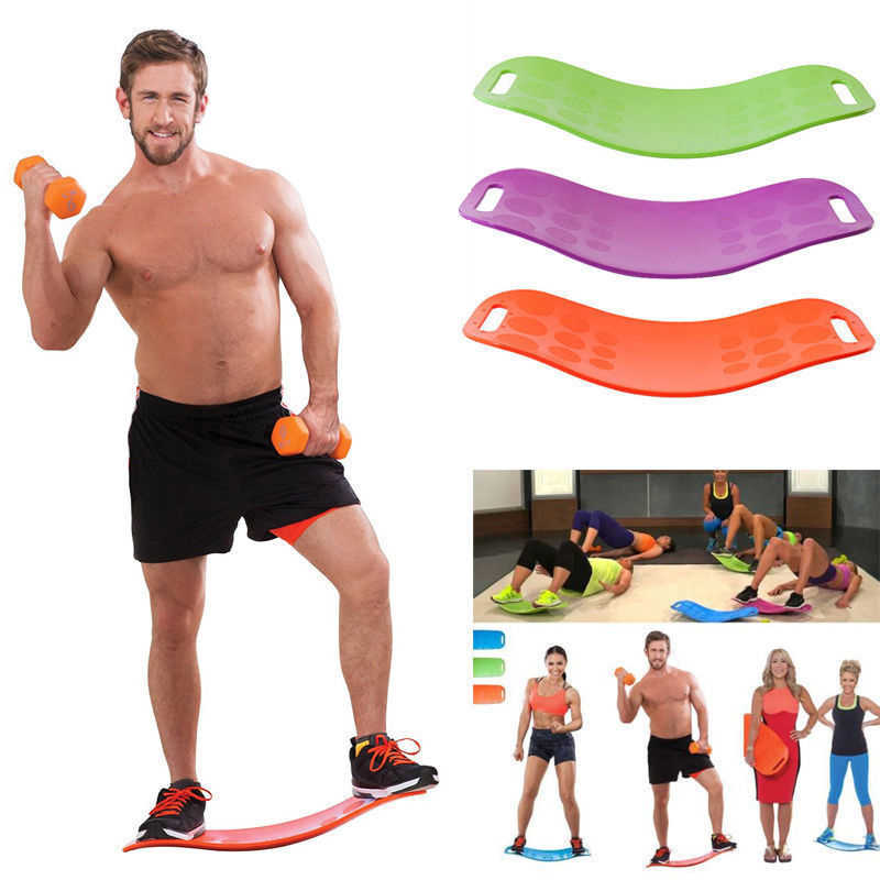Fitness Balance Board Simple Abs Leg Core Exercise Abdominal Muscles And Legs Balance Yoga Board Home Gam Fitness Equipment Aliexpress