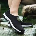 2019 Fashion Männer Casual Schuhe Slip-on Sommer Atmungsaktive Air-Mesh Männer der Wohnungen Trainer Sneaker Wasser Müßiggänger Schuh herren 758