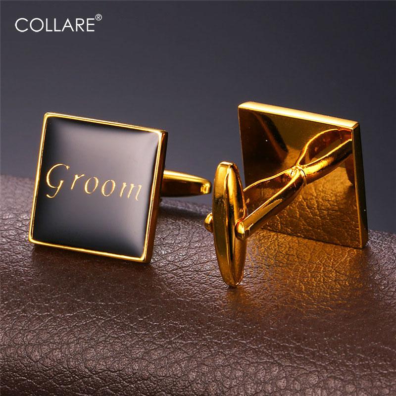 ac65fc0571c4 Φ ΦCollare Gemelli Per Mens Colore Oro Con Smalto  Groom  Lusso Cuff ...