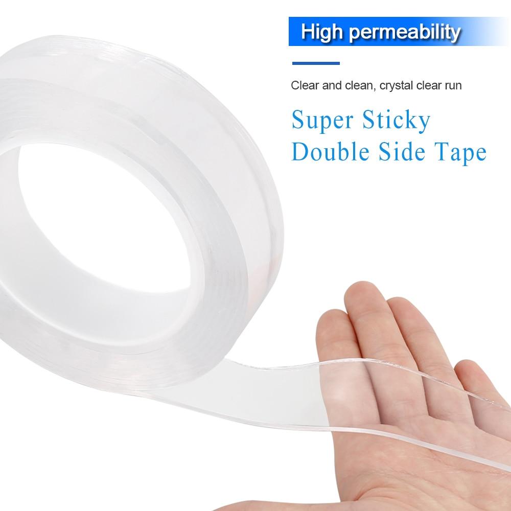 Nano Double Side Adhesive Tape Multifunctional Nano-free Magic Two Side Adhesive , Double Sided Traceless Washable Adhesive Tape