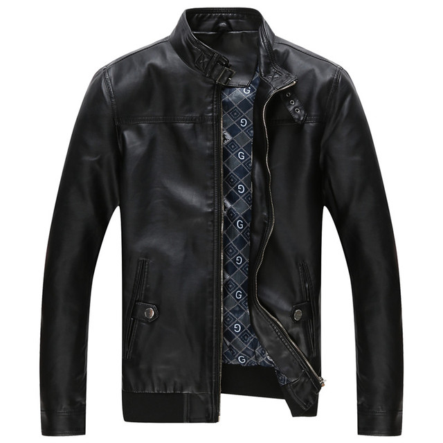 Hot high quality men's leather jacket motorcycle clothing casual Windbreaker Mens coat jacket free shipping
