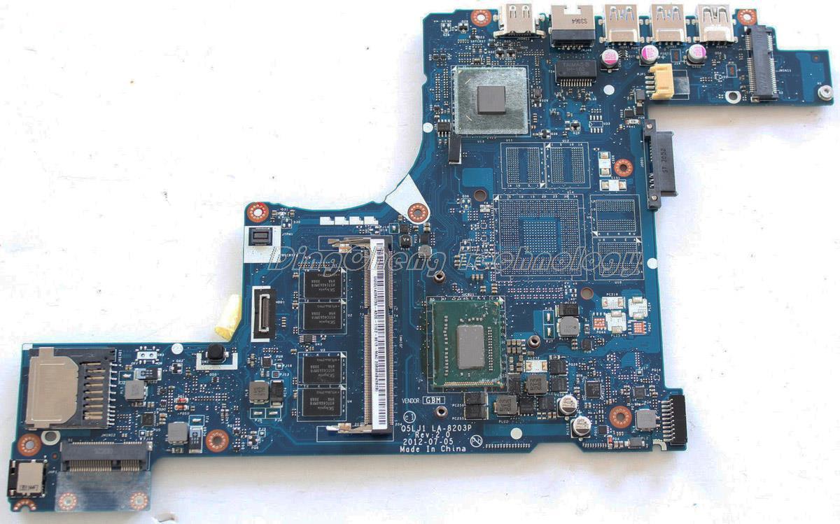 HOLYTIME laptop Motherboard For font b Acer b font M5 581T NBRZC11001 Q5LJ1 LA 8203P i5