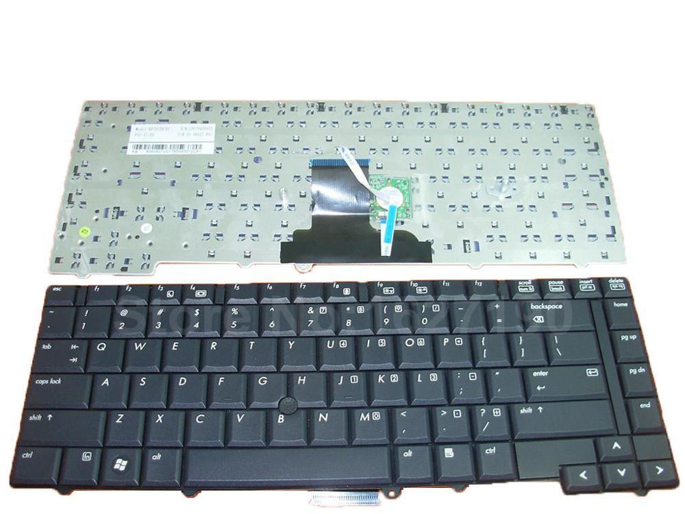 Laptop Keyboard For HP 8530P 8530W BLACK With Point stick New Original US Layout Replacement Repair Notebook Keyboards image