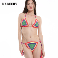 Bikini 2017 New Arrival Knitted Bikinis Swimsuit Sexy Bikini Set Swimwear Women Summer Dress Handmade Crochet