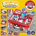 Nueva decool 18001 meter bokemon pikachu centro médico minis pikaqiu de construcción ladrillos juguetes figura de acción de regalos de navidad para niños