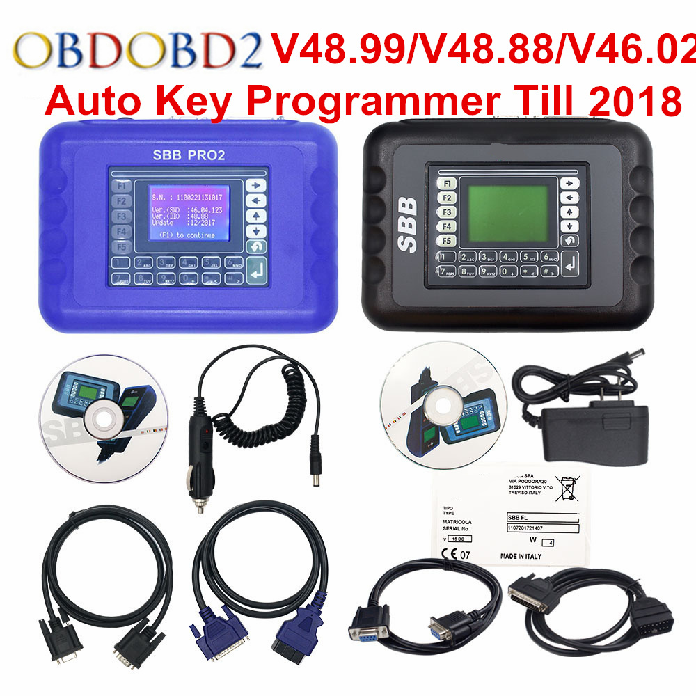 SBB Pro2 V48.88 V48.99 SBB V46.02 Auto Key Программист обновление SBB V33.2 V33.02 ключа автомобиля транспондер SBB 48,88 46,02 ключевой создатель