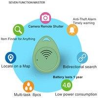 FS Remote Shutter Smart Tag GPS Tracker Bluetooth Key Finder Locator Sensor Alarm Two Way Anti