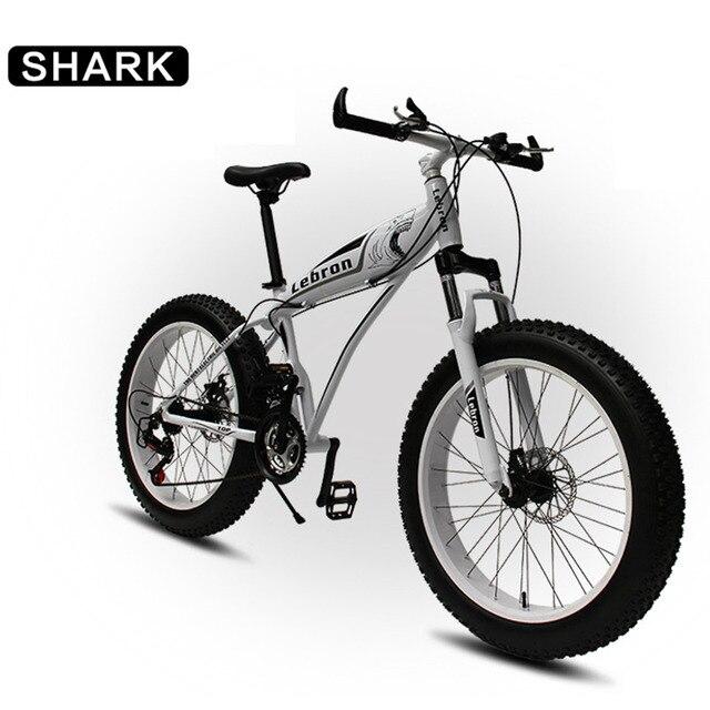 7865ad9c88d Shark Style, 7/21/24/27/30 Speeds, 24/26 inches, Fat Bike, Snow Bike, Aluminum  Alloy Frame, 4.0 Big Tire, Double Disc Brake.