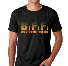 Best T Shirts Men'S Short Graphic Crew Neck Bff Beer Friends Forever T Shirts(China)