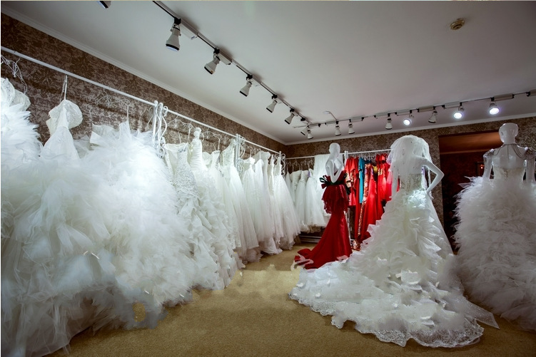 European high grade display stand Wedding dress cheongsam show clothing store shelf hanger side hang on