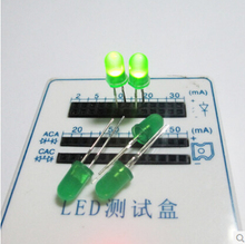 100PCS 3mm LED Round Super Bright LED 3mm Water Clear Blue Color F3 Light Emitting Diode, F3MM