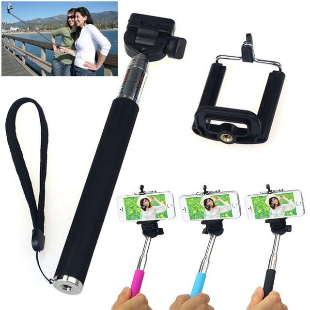 tripe para camera Selfie Stick Handheld Monopod Extendable Tripods + Mount Holder