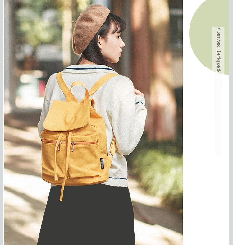 e867fed307bc 2018 Canvas Women Backpack Drawstring School Bags For Teenagers ...
