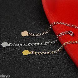 1 pz NUOVO Solido 18 K Oro Bianco Catena di Estensione Per La Collana Del Braccialetto 1.9 inch